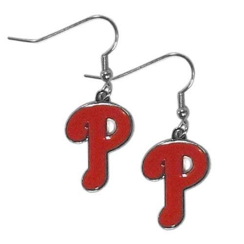 PHILADELPHIA PHILLIES PAIR DANGLE EARRINGS TEAM LOGO PARTY TAILGATE MLB BASEBALL