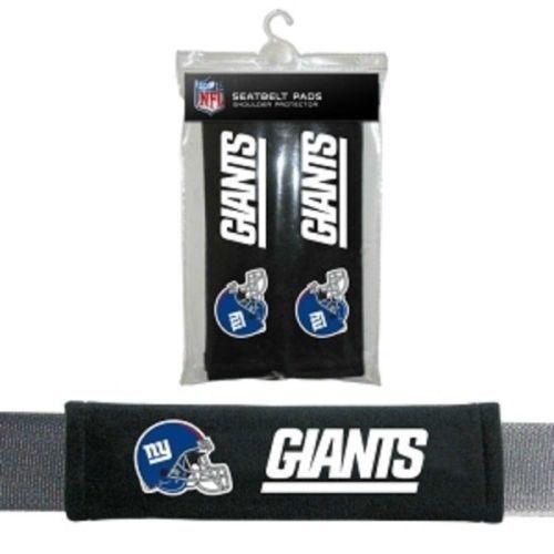 NEW YORK GIANTS 2 VELOUR SEATBELT LAPTOP GYM BAG SHOULDER PADS NFL FOOTBALL #1