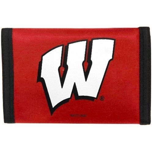 WISCONSIN BADGERS TEAM LOGO NYLON TRIFOLD WALLET NCAA #1