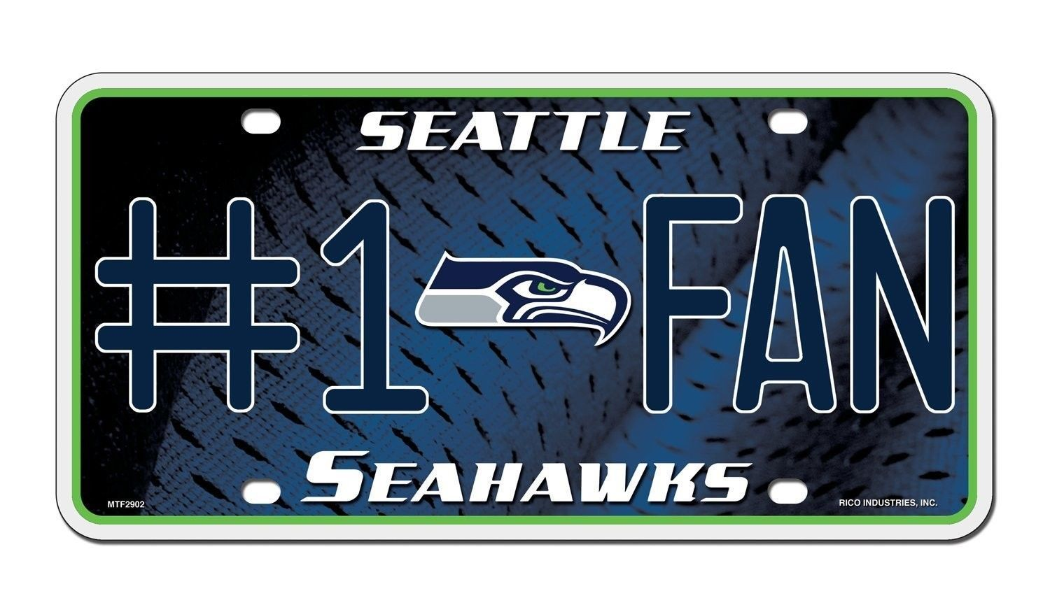 SEATTLE SEAHAWKS #1 FAN CAR AUTO METAL LICENSE PLATE TAG NFL FOOTBALL