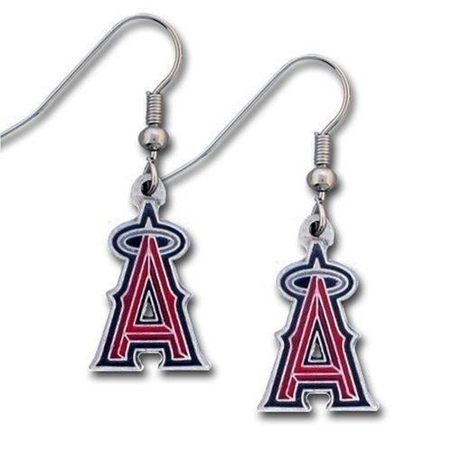 LOS ANGELES ANGELS PAIR DANGLE EARRINGS TEAM LOGO PARTY TAILGATE MLB BASEBALL