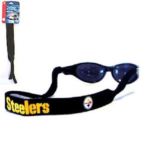 2 PITTSBURGH STEELERS NFL FOOTBALL CROAKIES SUNGLASSES EYEGLASS STRAP
