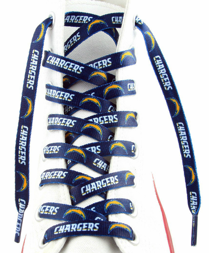 "SAN DIEGO CHARGERS TEAM SHOE LACES 54"" *LACEUPS* GAME DAY PARTY NFL FOOTBALL"