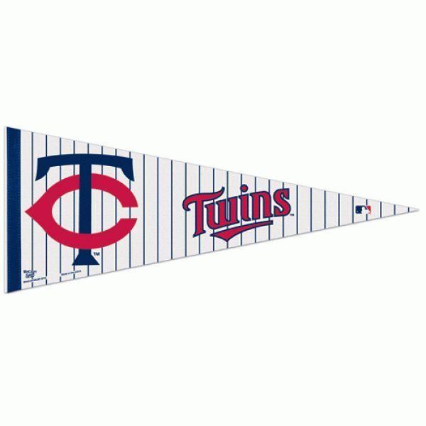 "2 MINNESOTA TWINS TEAM FELT PENNANT 12"" x 30"" MLB BASEBALL *Ships FLAT*"