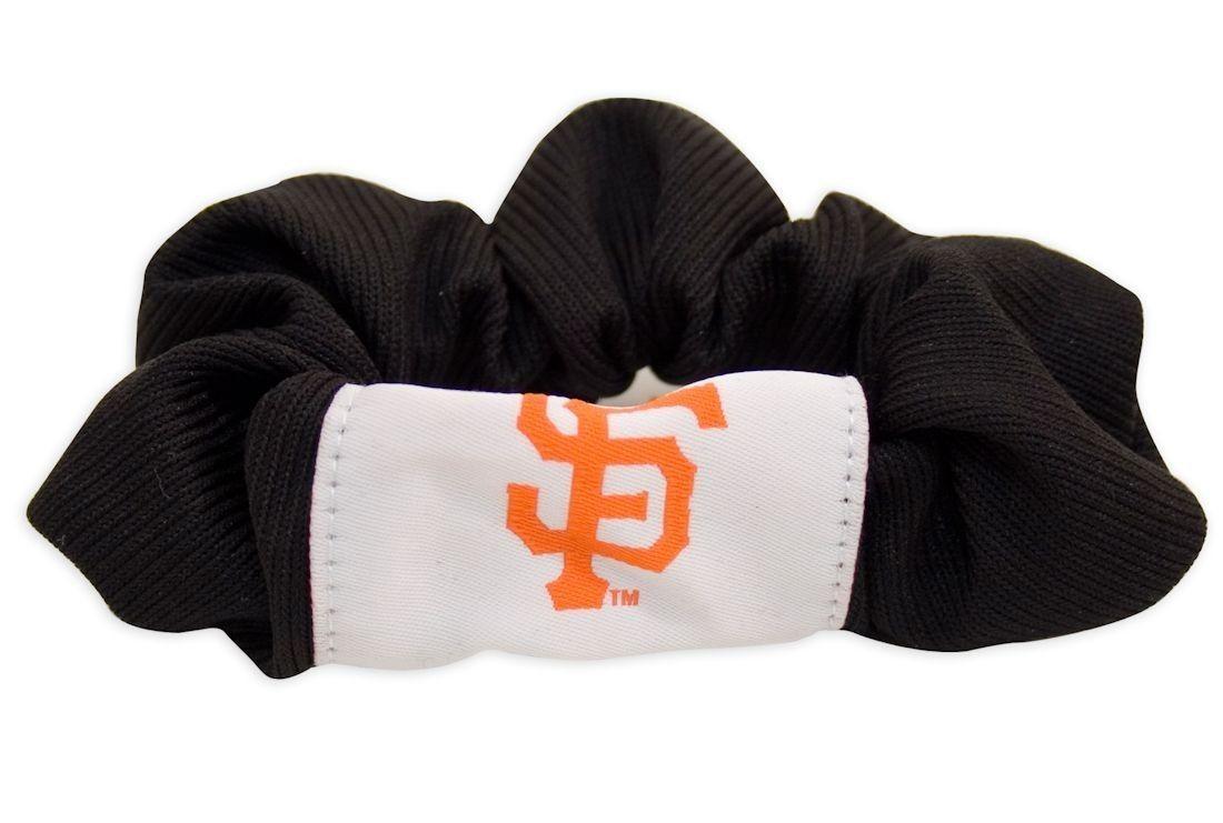 SAN FRANCISCO GIANTS SCRUNCHIE HAIR TWIST PONY TAIL HOLDER TEAM MLB BASEBALL