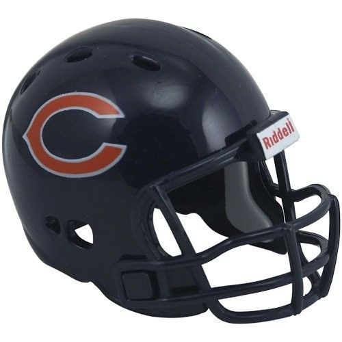 "2 CHICAGO BEARS POCKET PRO HELMET 2"" SIZE  Made By RIDDELL! NFL FOOTBALL"