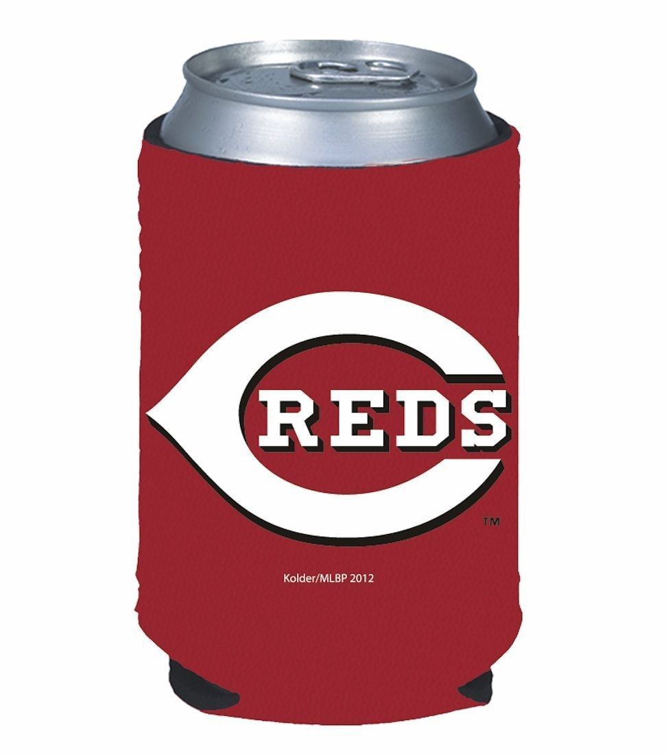 2 CINCINNATI REDS BEER SODA WATER CAN KADDY BOTTLE KOOZIE HOLDER MLB BASEBALL