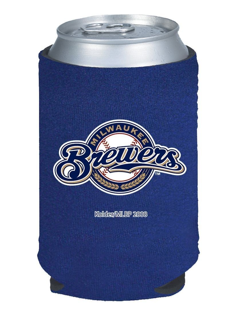 2 MILWAUKEE BREWERS BEER SODA WATER CAN KADDY BOTTLE KOOZIE HOLDER MLB BASEBALL