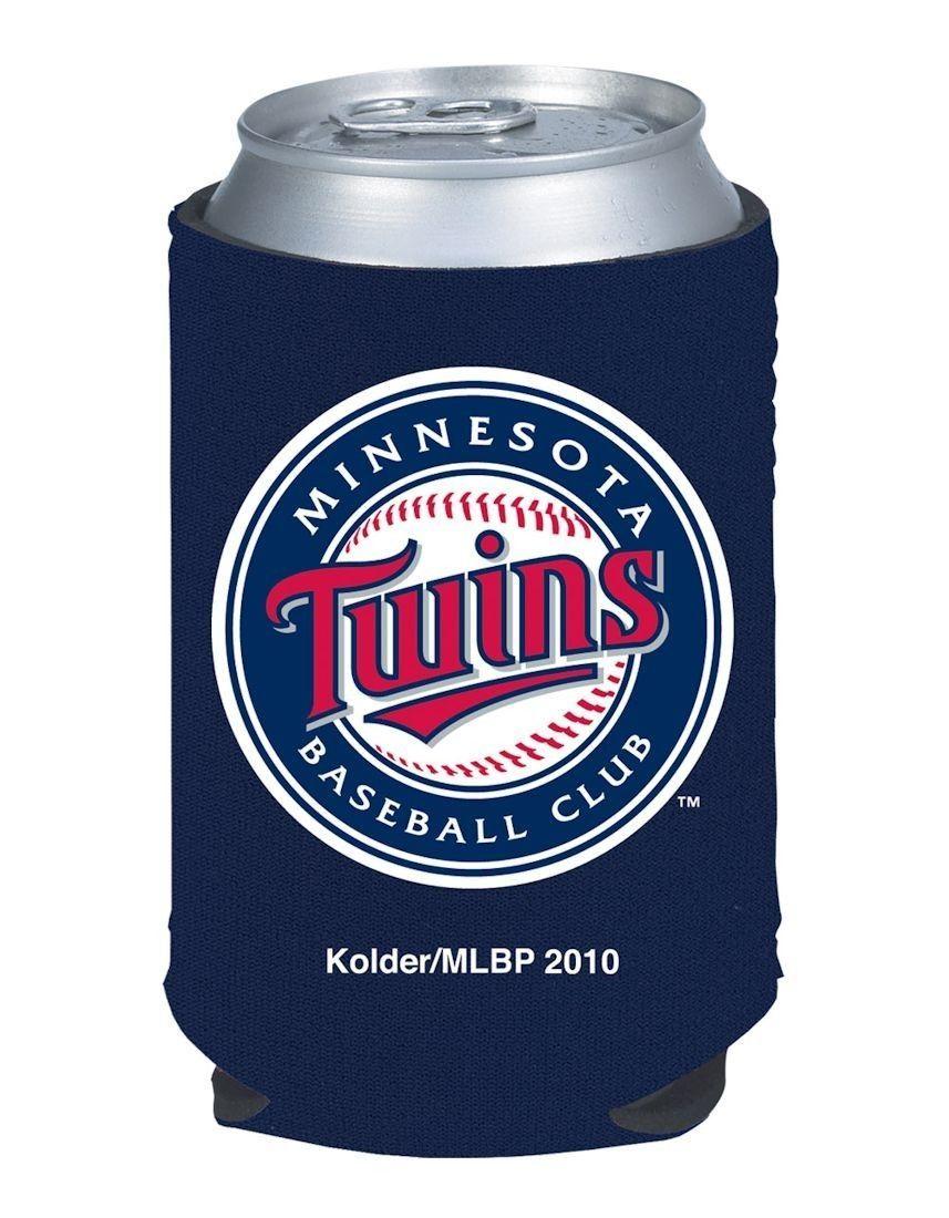 2 MINNESOTA TWINS BEER SODA WATER CAN KADDY BOTTLE KOOZIE HOLDER MLB BASEBALL
