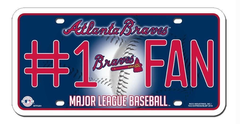 ATLANTA BRAVES #1 FAN CAR AUTO METAL LICENSE PLATE TAG MLB BASEBALL