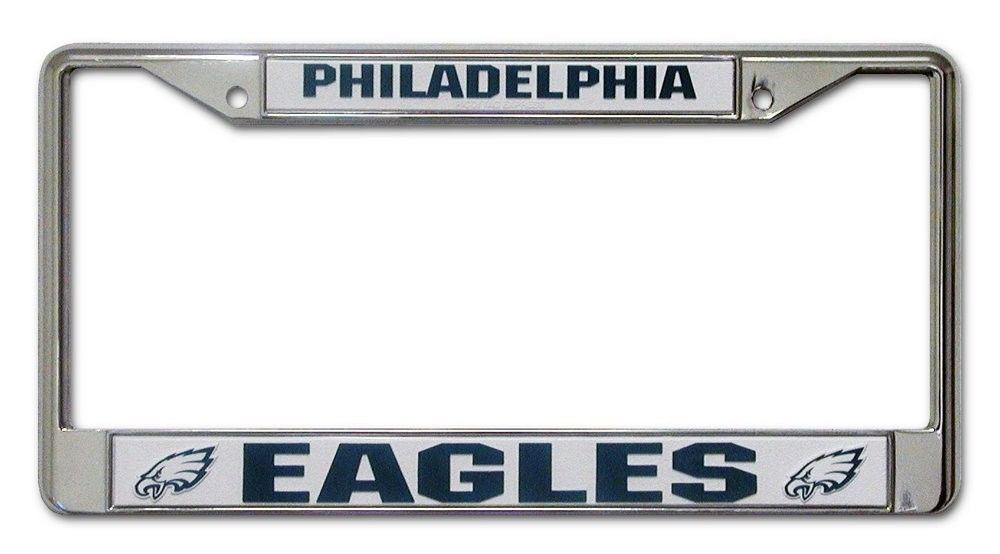PHILADELPHIA EAGLES CAR AUTO CHROME METAL LICENSE PLATE TAG FRAME NFL FOOTBALL