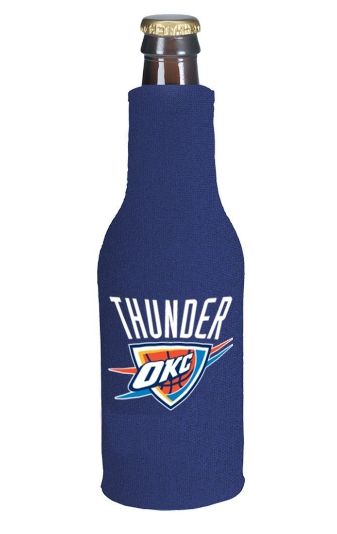 2 OKLAHOMA CITY THUNDER BEER SODA BOTTLE ZIPPER KOOZIE HOLDER NBA BASKETBALL
