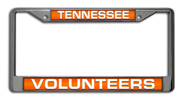 TENNESSEE VOLUNTEERS CAR AUTO LASER MIRROR CHROME LICENSE PLATE TAG FRAME