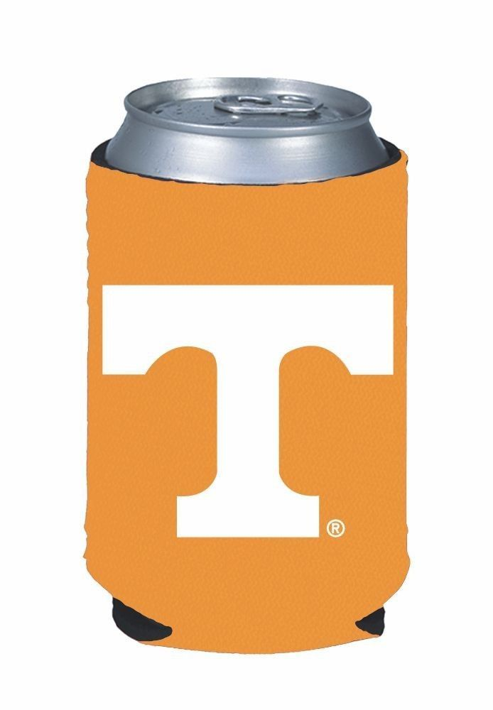 2 TENNESSEE VOLUNTEERS BEER SODA WATER CAN BOTTLE KOOZIE KADDY HOLDER
