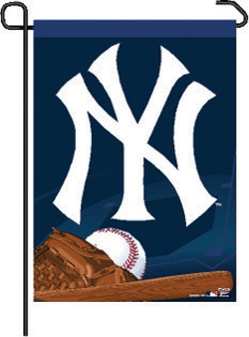 "NEW YORK YANKEES TEAM GARDEN WALL FLAG BANNER 11"" X 15"" MLB BASEBALL"