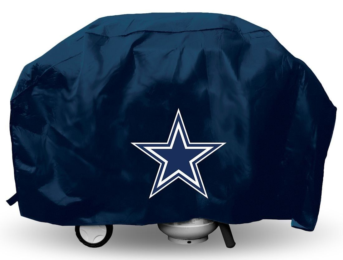 DALLAS COWBOYS TEAM LOGO ECONOMY BBQ BARBEQUE GRILL COVER NFL FOOTBALL