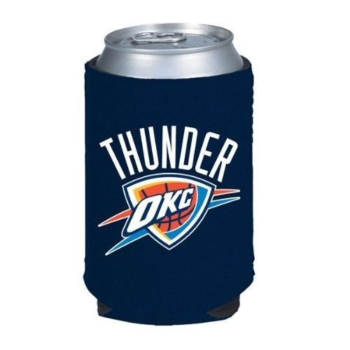 2 OKLAHOMA CITY THUNDER BEER SODA CAN BOTTLE KOOZIE KADDY HOLDER NBA BASKETBALL