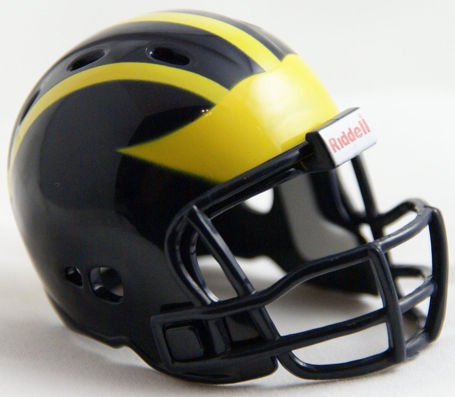 "2 MICHIGAN WOLVERINES POCKET PRO FOOTBALL HELMET 2"" SIZE  Made By RIDDELL!"