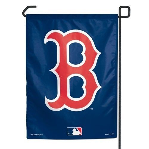 "BOSTON RED SOX TEAM GARDEN YARD WALL FLAG BANNER 11"" X 15"" MLB BASEBALL"