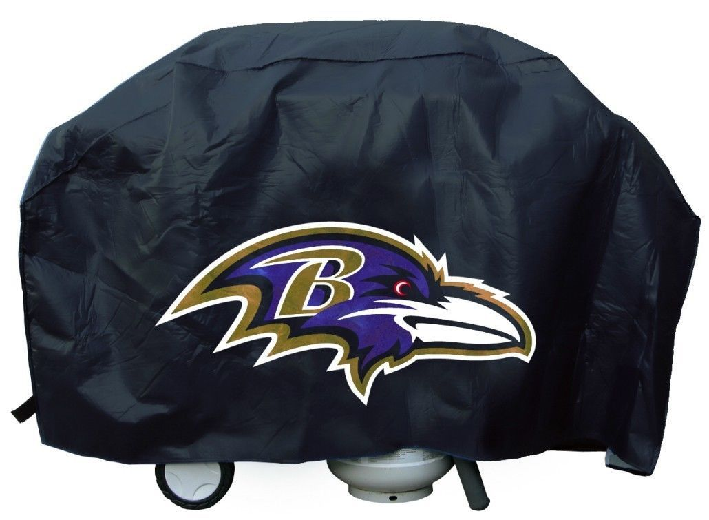 BALTIMORE RAVENS TEAM LOGO ECONOMY BBQ BARBEQUE GRILL COVER NFL FOOTBALL