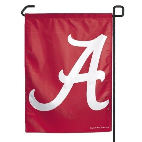 "ALABAMA CRIMSON TIDE TEAM LOGO GARDEN YARD WALL FLAG BANNER 11"" X 15"" NCAA"