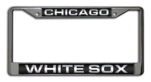 CHICAGO WHITE SOX CAR LASER MIRROR CHROME LICENSE FRAME
