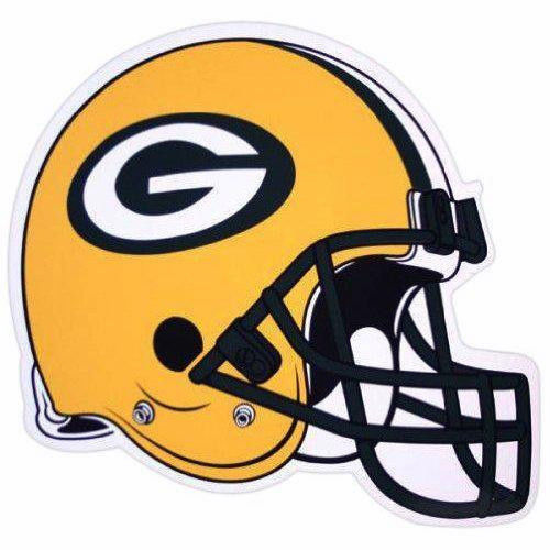 "*BIG* 12"" FOOTBALL HELMET MAGNET for CAR AUTO FRIDGE NFL GREEN BAY PACKERS"