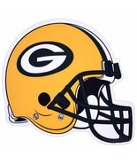 "*BIG* 12"" FOOTBALL HELMET MAGNET for CAR AUTO FRIDGE NFL GREEN BAY PACKERS - $10.88"