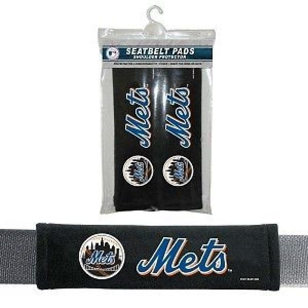 NEW YORK METS 2 VELOUR SEAT BELT LAPTOP GYM BAG SHOULDER PADS MLB BASEBALL #1