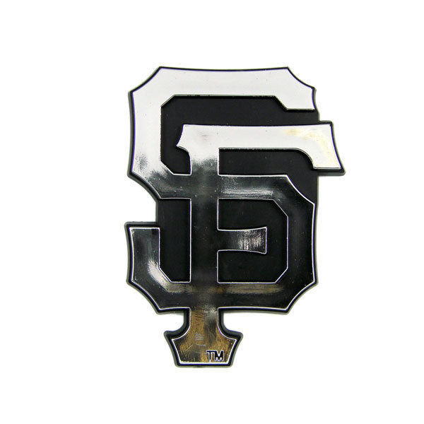 SAN FRANCISCO GIANTS CAR AUTO 3-D CHROME SILVER TEAM LOGO EMBLEM MLB BASEBALL