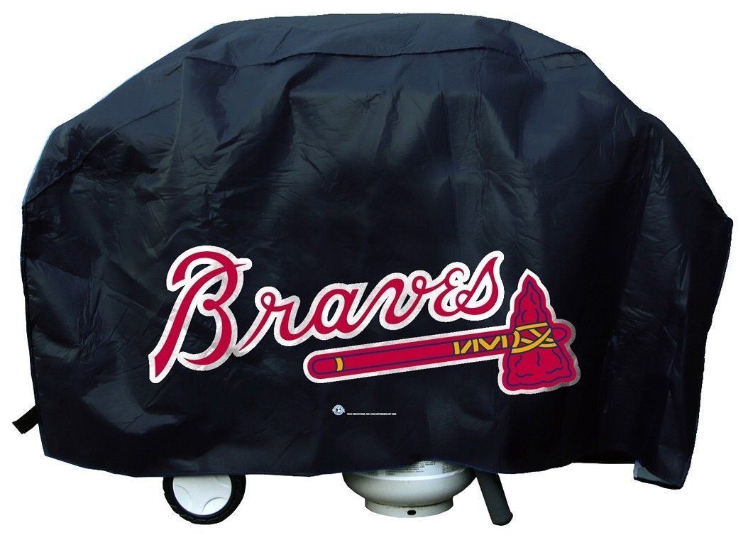 ATLANTA BRAVES ECONOMY BBQ BARBEQUE GRILL COVER COOKING MLB BASEBALL