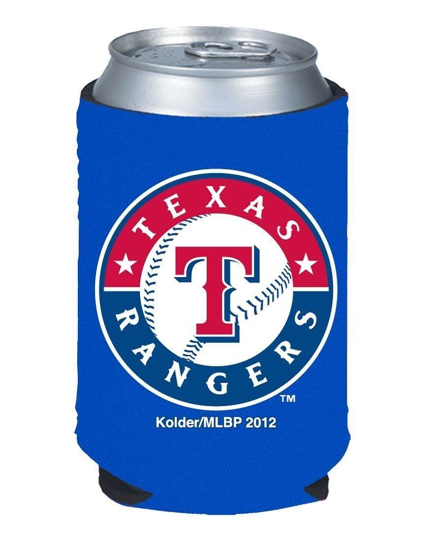 2 TEXAS RANGERS BEER SODA WATER CAN KADDY BOTTLE KOOZIE HOLDER MLB BASEBALL