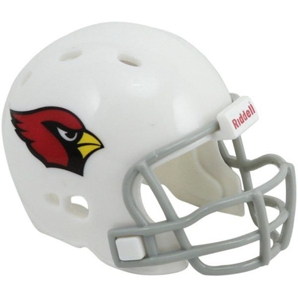 "2 ARIZONA CARDINALS POCKET PRO HELMET 2"" SIZE  Made By RIDDELL! NFL FOOTBALL"