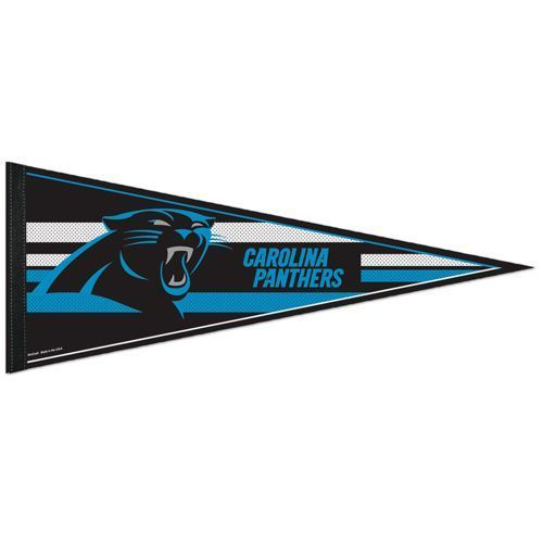 "2 BIG CAROLINA PANTHERS TEAM FELT PENNANT 12""X30"" NFL FOOTBALL SHIPS FLAT in USA"