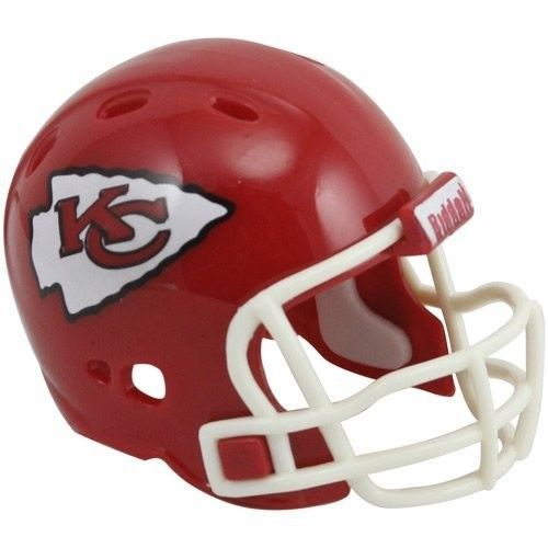 "2 KANSAS CITY CHIEFS POCKET PRO HELMET 2"" SIZE  Made By RIDDELL! NFL FOOTBALL"
