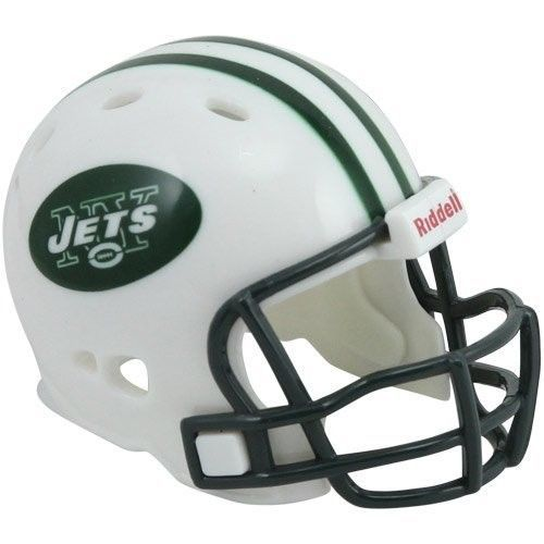 "2 NEW YORK JETS POCKET PRO HELMET 2"" SIZE  Made By RIDDELL! NFL FOOTBALL"