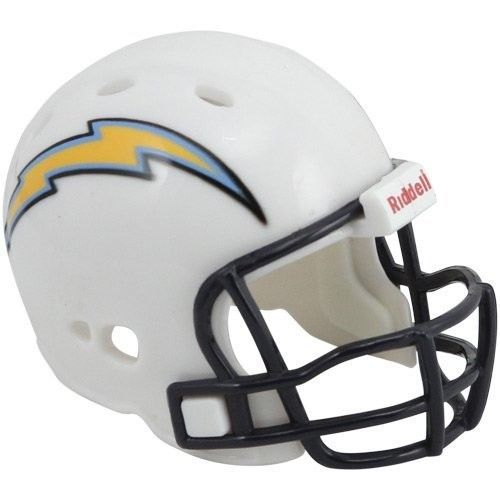 "2 SAN DIEGO CHARGERS POCKET PRO HELMET 2"" SIZE  Made By RIDDELL! NFL FOOTBALL"