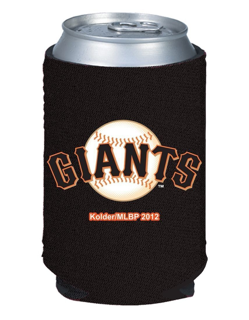 2 SAN FRANCISCO GIANTS BEER SODA WATER CAN or BOTTLE KOOZIE HOLDER MLB BASEBALL