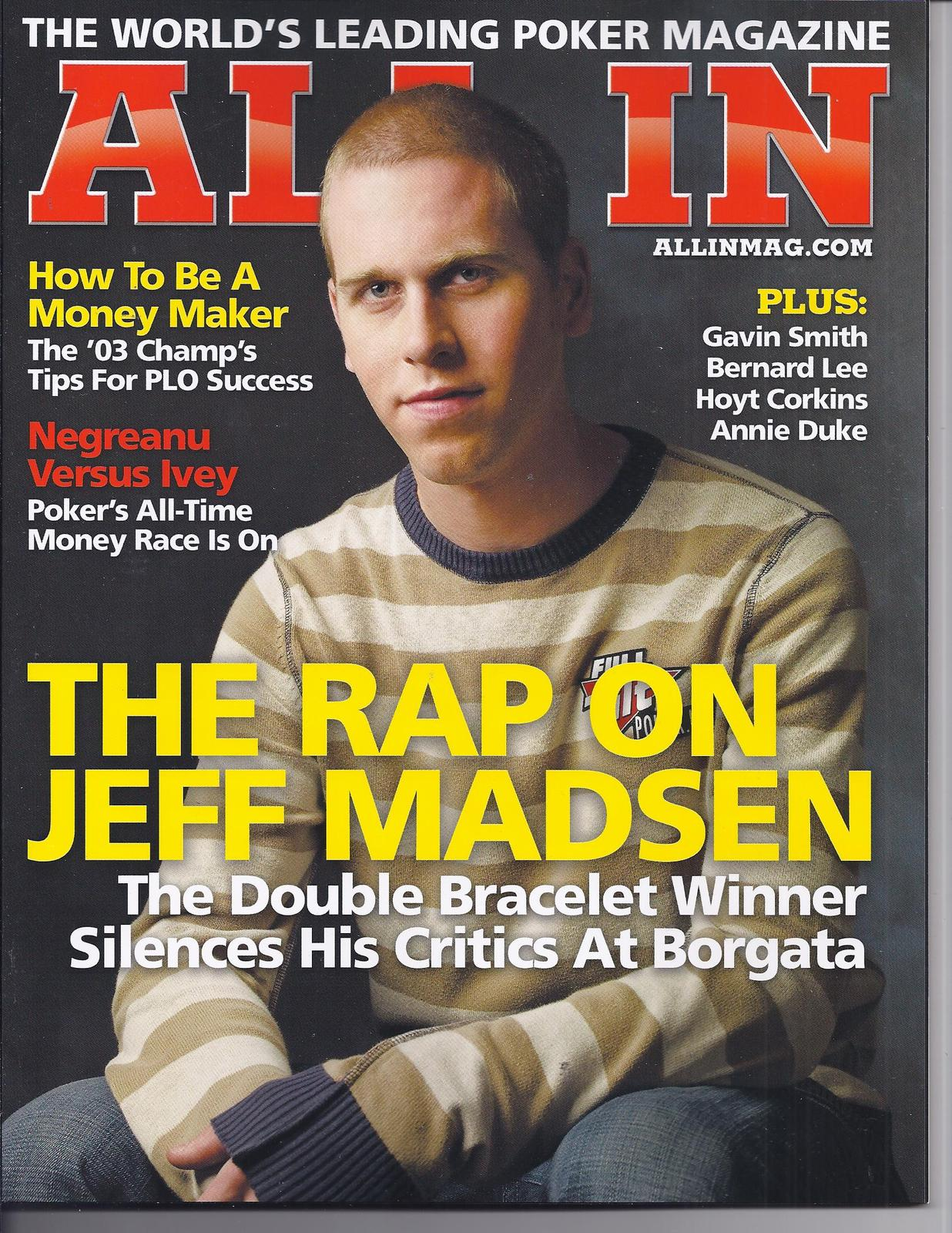 Primary image for JEFF MADSEN @ LAS VEGAS ALL IN Poker Magazine MARCH 2010