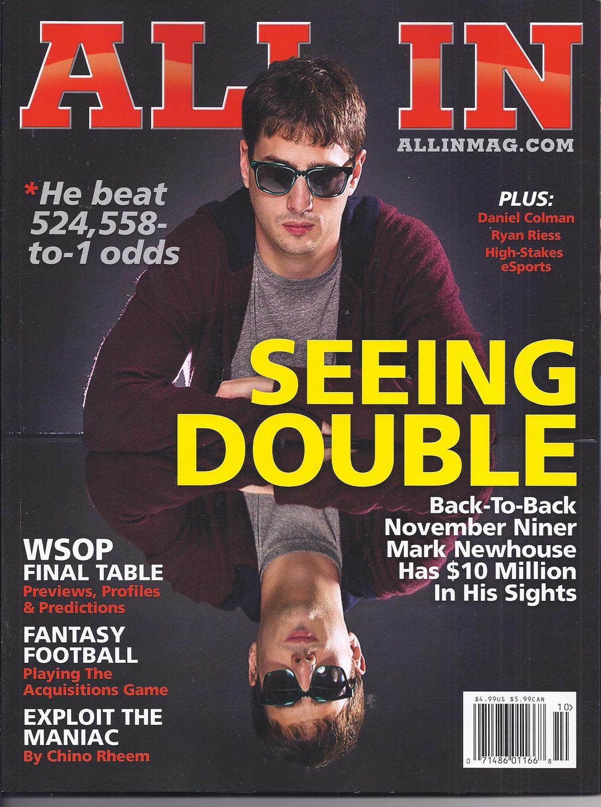 Primary image for MARK NEWHOUSE @ LAS VEGAS ALL IN Poker Magazine OCTOBER 2014