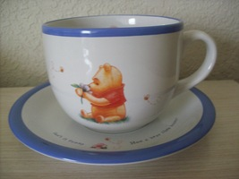 Disney Winnie the Pooh Coffee/Soup Cup with Saucer - $28.00
