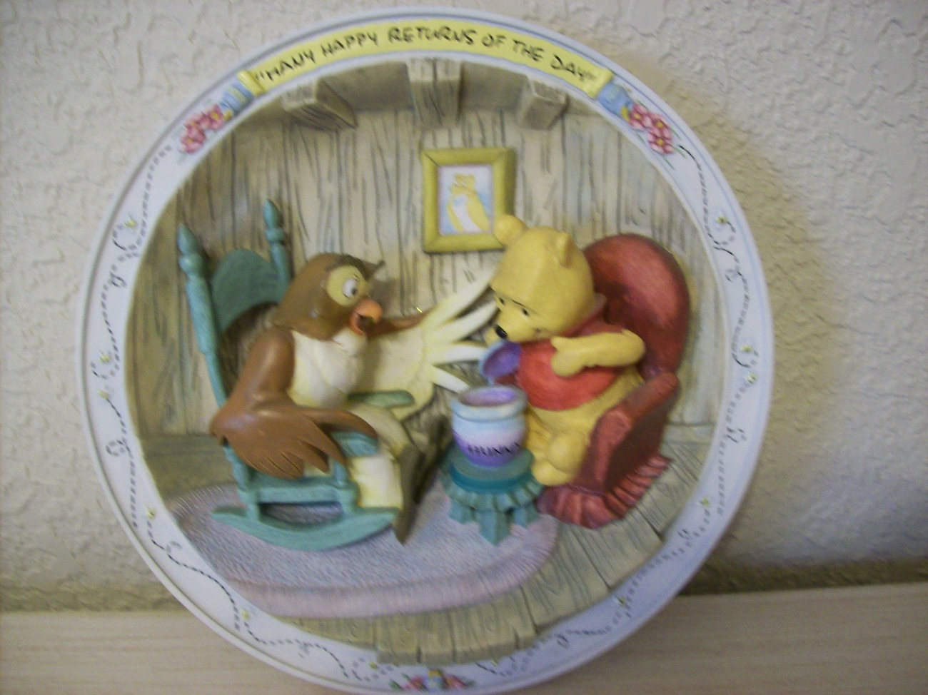 "Primary image for Bradford Exchange's Disney Winnie the Pooh 3-D Collector's Plate ""Many Hap"