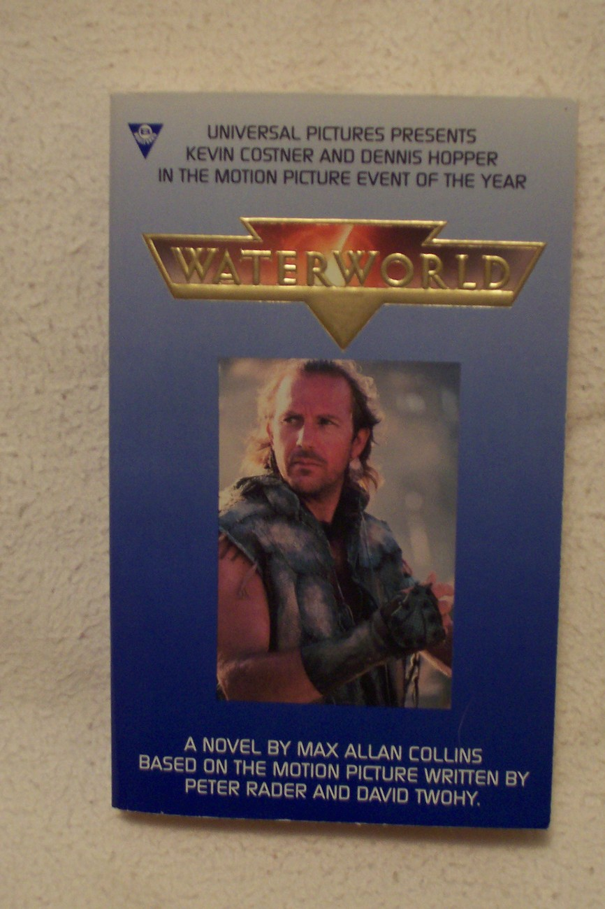 Primary image for Waterworld by Max Allan Collins PB Autographed in 1995 New Movie Cover