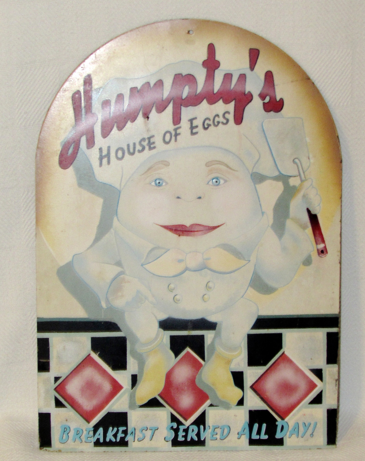 """Humpty's House of Eggs"" Retro Vintage Metal Sign Reproduction"