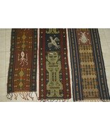 Handspun Hand woven Sumba Hinggi Songket Ikat Pigments Nassa Shells SR21... - $132.99