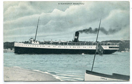 Steamer Manitou postmarked Petoskey Michigan 1916 postcard - $7.00