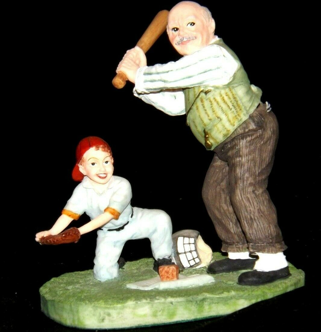 """""""Gramps at the Plate"""" by Norman Rockwell Figurine AA19-1664 Vintage"""