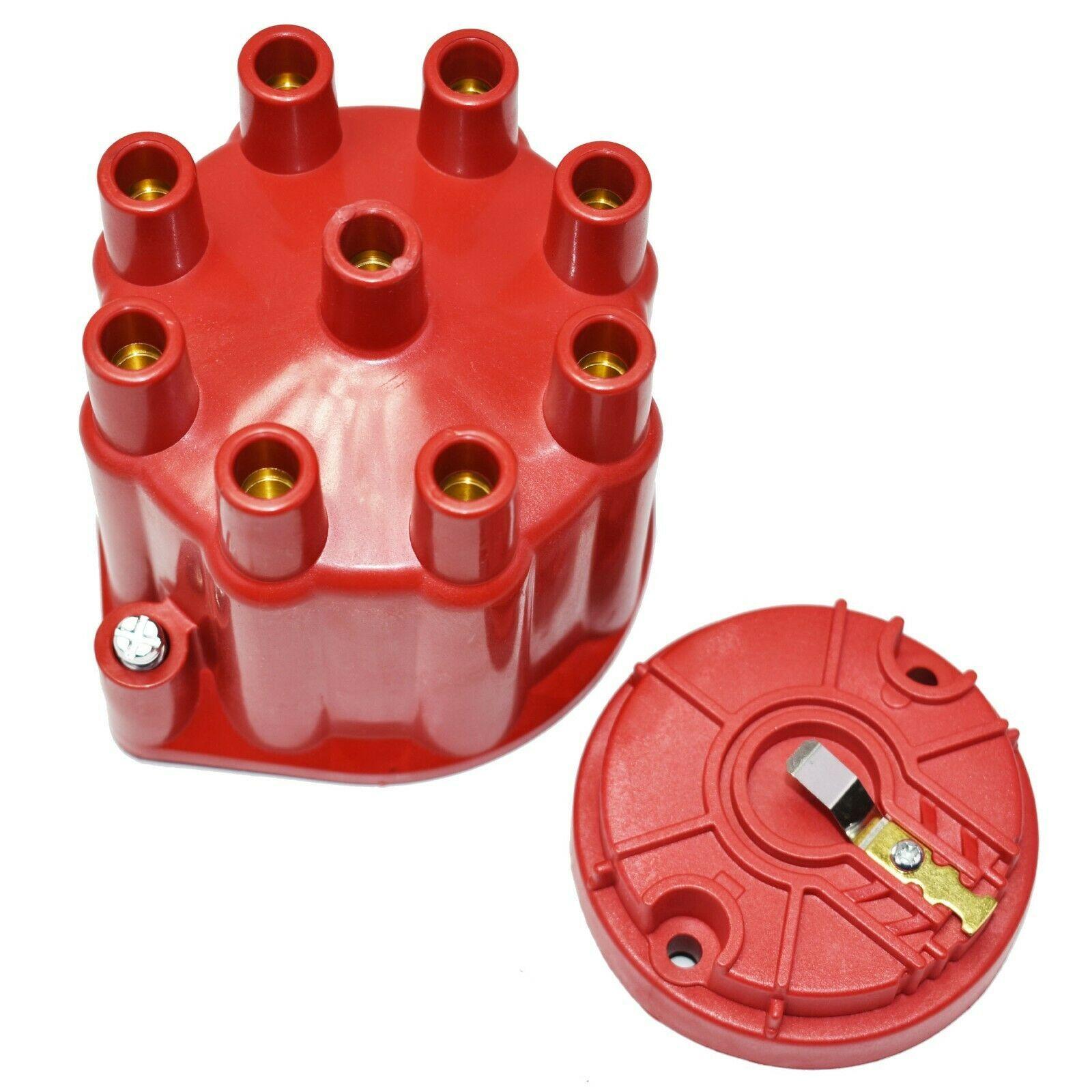 8-Cylinder Female Pro Series Distributor Cap & Rotor Kit (Red)