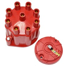 8-Cylinder Female Pro Series Distributor Cap & Rotor Kit (Red)