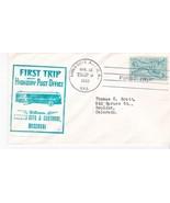 FIRST TRIP H.P.O. KANSAS CITY & CARTHAGE MISSOURI APRIL 18 1950 TRIP 2 - $1.98